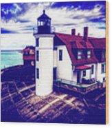 Point Betsie On Lake Michigan Wood Print