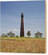 Point Bolivar Lighthouse Wood Print