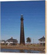 Point Bolivar Lighthouse Tx Wood Print