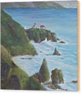 Point Bonita Lighthouse Wood Print