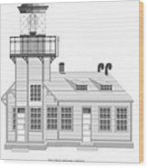 Point Cabrillo Architectural Drawing Wood Print
