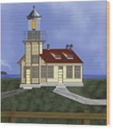 Point Cabrillo California Wood Print