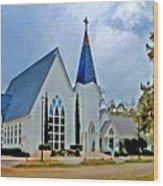 Point Clear Alabama St. Francis Church Wood Print