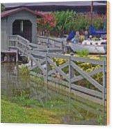 Point Clear Bridge At Grand Hotel Wood Print