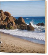 Point Dume Malibu California Wood Print