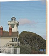 Point Fermin Light - An Elegant Victorian Style Lighthouse In Ca Wood Print