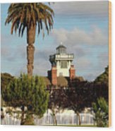 Point Fermin Light - San Pedro - Southern California Wood Print by Christine Till
