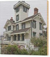 Point Fermin Lighthouse Wood Print