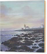 Point Judith Light R I Wood Print