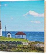 Point Judith Lighthouse Wood Print