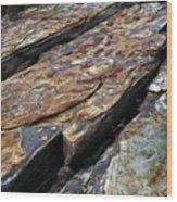 Point Lobos Rock 1 Wood Print