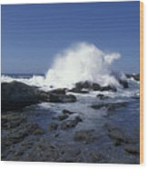 Point Lobos Seascape 2 Wood Print by Stan and Anne Foster