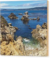 Point Lobos Whalers Cove- Seascape Art Wood Print