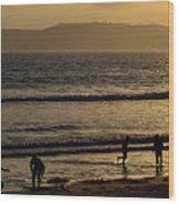 Point Loma California Surfers Wood Print