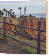 Point Loma Lighthouse California Wood Print
