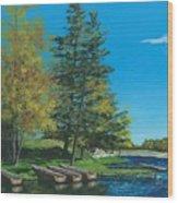 Point Narrows Wood Print