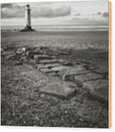 Point Of Ayre Lighthouse Wood Print
