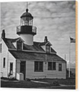 Point Pinos Pacific Grove Lighthouse Wood Print