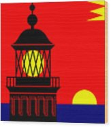 Point Queen Charlotte Light House Wood Print