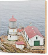 Point Reyes Lighthouse At Point Reyes National Seashore Ca Wood Print