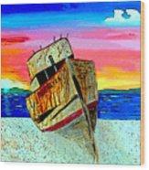 Point Reyes Wreck D2 Wood Print