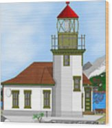 Point Robinson On Vashon Island Wood Print