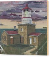 Point Sur Wood Print by James Lyman