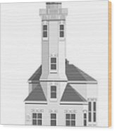 Point Wilson Architectural Drawing Wood Print