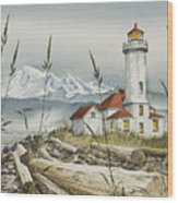 Point Wilson Lighthouse Wood Print by James Williamson