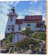 Pointe Au Baril Lighthouse Wood Print