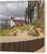 Pointe Betsie Lighthouse Wood Print