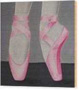 Pointe Shoes Wood Print