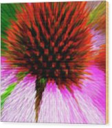 Pointed Flower Wood Print