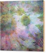 Pointillism Coneflowers 3571 Idp_3 Wood Print