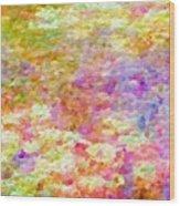 Pointillist Colour Wood Print