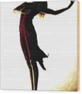 Poise In Silhouette Wood Print