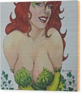 Poison Ivy Wood Print