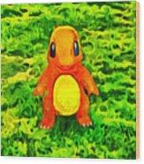 Pokemon Go Charmander - Da Wood Print