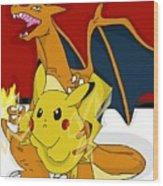 Pokemon Wood Print