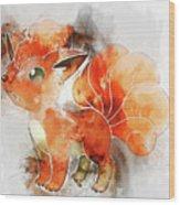 Pokemon Vulpix Abstract Portrait - By Diana Van Wood Print
