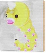 Pokemon Weedle Abstract Portrait - By Diana Van Wood Print