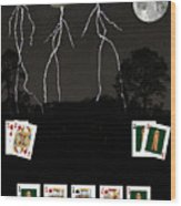 Poker Cards Wood Print