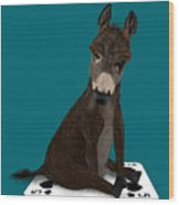 Poker Donkey Wood Print