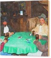 Poker Wood Print