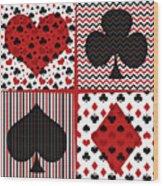 Poker In Four Wood Print