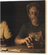 Poker Night Wood Print