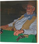 Poker Player Wood Print