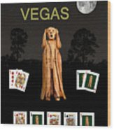 Poker Vegas Scream Wood Print