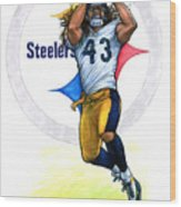 Polamalu  Wood Print