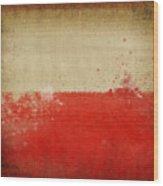 Poland Flag  Wood Print